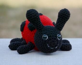 CROCHET PATTERN: Lanie the Ladybug - amigurumi, ladybug