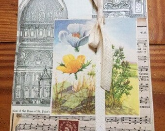 DIY blank journal for collage and altered art ephemera included
