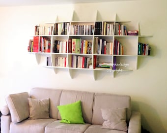 Invisible fastenings Japanese PM design wall library