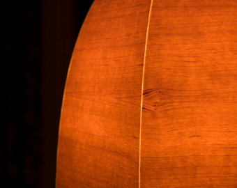Wood veneer lampshade - Beloeilloise  # 20
