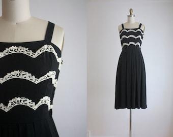 1950s black sundress