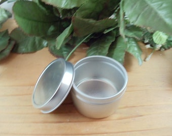5 ea 2 oz Deep Metal Tin Container with Lid - Great for Crafts and Storage