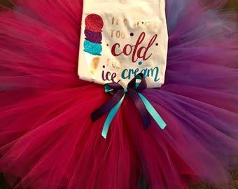 It's Never Too Cold For Ice Cream Tutu Set