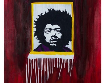 Jimi's Ghost, Music Art, Limited Edition Art Print