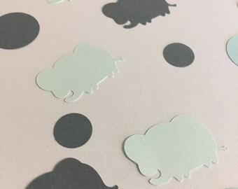 Elephant//Confetti//Baby shower//Die-cut