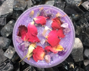 INTUITION Tealights / AMETHYST / Sanctuary Candle / Crystal Candle / Ritual Candle / Crystal Activated Candle