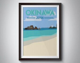 Okinawa   Japan   Travel Poster   Instant Download