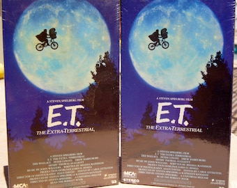 A Steven Spielberg Film E.T. The Extra-Terrestrial VHS Factory Sealed - for 1 tape only