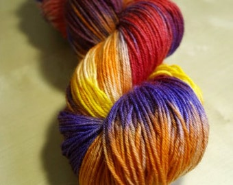 A Perfect Shade of Autumn Blue Faced Leicester Sock Weight Yarn