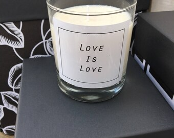 "Scented candle ""love is love"" - candle - scented candles - vegan - soy"