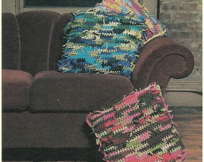 Home Furnishings - Shaggy Rug and Pillows rag rug pattern digital download pdf