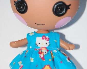 "Lalaloopsy Littles 7"" doll clothes - Hello Kitty Dress - tkct181"
