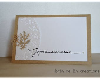 Kraft paper doily woman birthday card