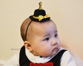 GOLD party hat, 1st birthday hat, newborn birthday hat, cake topper, baby birthday hat, boy birthday hat, newborn photo prop, party hat