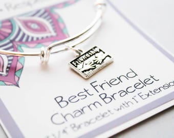 Friendship Bracelet - Girlfriends bracelet - Best Friends Bangle Bracelet - Friendship Charm Bracelet