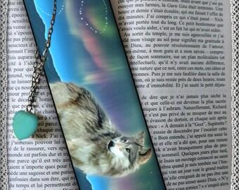 "Laminated bookmarks ""Aurora"", cheap gift idea"