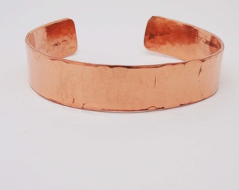 Hammered Copper Cuff / 7 Year Anniversary Gift / Copper Bracelet / Copper Anniversary Jewelry