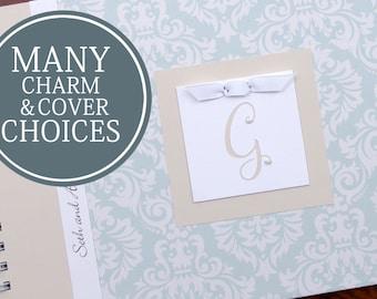 Wedding Anniversary Journal | First Anniversary Gift for Him | Paper Anniversary Gift for Her | Personalized | Mint Damask