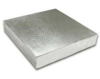 "Steel bench block, 4"" x 4"" x .5"""