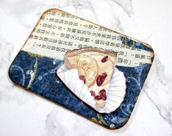 ACEO Original watercolour Art - Apple Torte