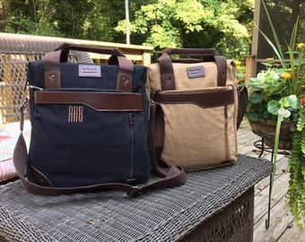 Canvas Messenger Computer Bag – Form and Function Together with Style! The Perfect Bag for the Office and Travel