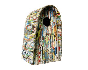 "Birdhouse ""Igloo"" - Paper Sculpture"