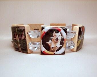 DOG AGILITY Sport Obedience Bracelet / Jewelry /  UPCYCLED Handmade / Scrabble Art / Dog Lover Gift