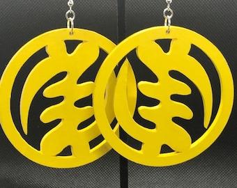 Yellow Gye Nyame Earrings