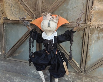 Ooak Halloween Pumpkin Eater Master Midnight