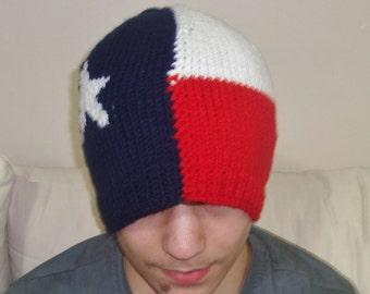Texas Flag, Knit Hats, Adult, Women Hats, Men Hats, Winter, Ski, texas gift for men, gift for women