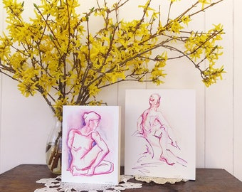 Yoga Art Print, Orange Ultra Violet Yoga Twist, Yoga Art Yoga Wall Decor, Yoga Lover Gift, Yoga Teacher Gift, 8x10, Yoga Studio Decor