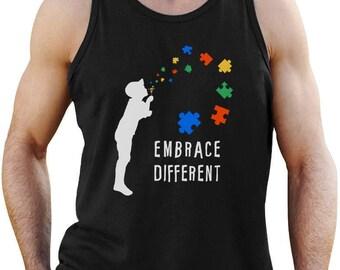 Embrace Different - Autism Awareness Singlet