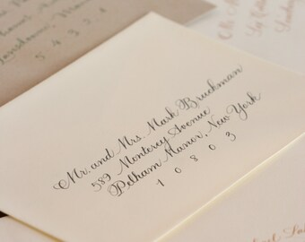 Hand Calligraphy Envelope Addressing