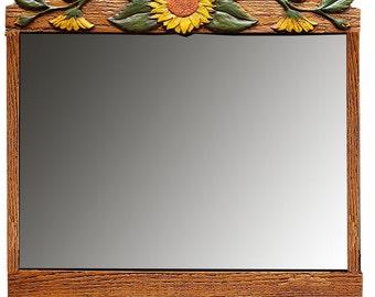 Sunflower Decor Wall Mirror