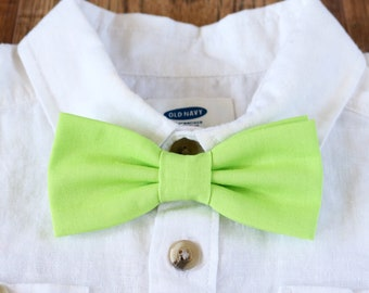 Bright Green Bow Tie // Little Boy Basics // Boys Accessories // Kids Bow Ties // Sunday Best // Neon Bow Ties