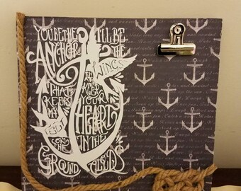 You be the anchor picture frame