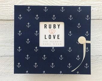 BABY BOOK | Navy Anchors Album