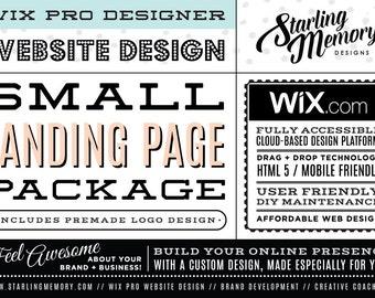 SMALL LANDING PAGE Wix Website Package  / Wix Website Design Package / Single Page Website Design / Custom Webdesign / Wix Pro Designer
