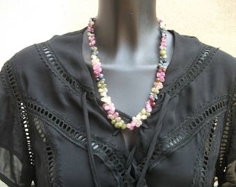 multicolor saphirs necklace AAA