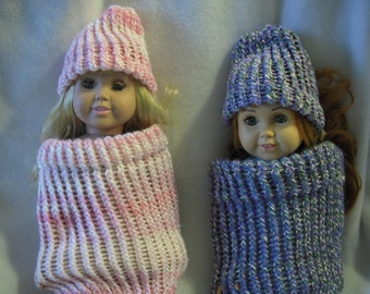 """Hat and Cocoon for 18"""" Doll"""