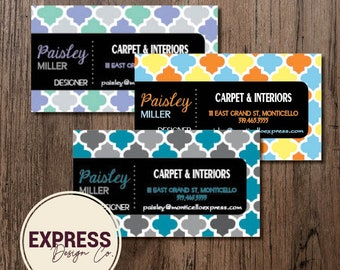 Customized Personalized Design Pattern Geometric Graphic Business Card FREE SHIPPING