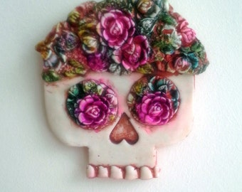 Florabean Sugar Skull Wall Decoration Day of the Dead Halloween