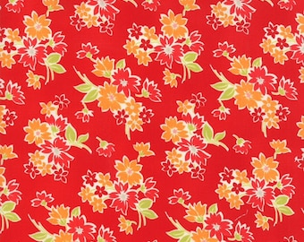 Sale Miss Kate red floral cotton fabric by Bonnie and Camille for Moda fabric 55091 11
