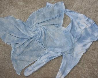 Tie dye sleepsuit and muslin set