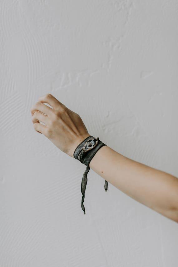 Agate Silk Wrap Bracelet