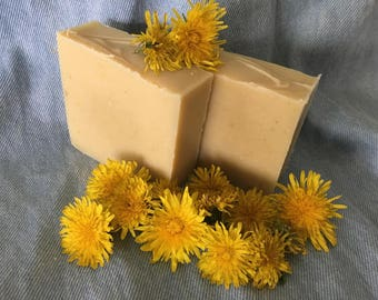 Natural Dandelion Infused Soap-4 oz bar