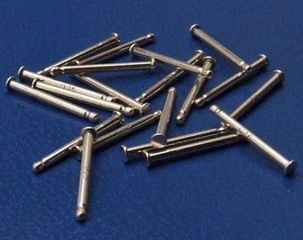 Findings - 925 Sterling Silver Earring Posts with 1.5 mm pad - Quantity 20
