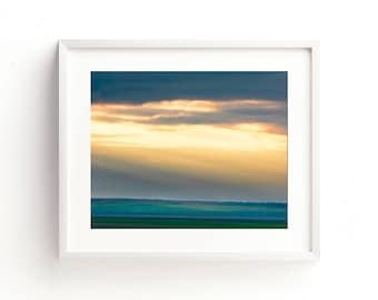 "landscape photography, landscape print, large art, large wall art, landscape wall art, sky, clouds, landscape wall art - ""Shine A Light"""