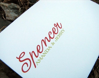 Personalized Family Note Cards / Personalized Family Notes / Family Stationery / Couples or Family Notecards
