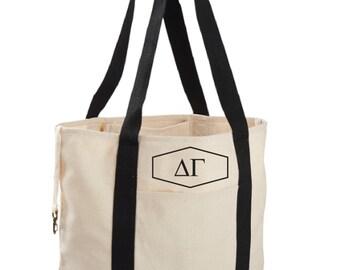Delta Gamma Canvas Tote Bag